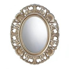 Gilded Oval Wall Mirror $51.99  #furnishings #homedecor #home #furniture #homefurnishings #decor