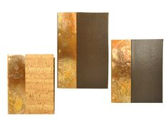 Carmel Country Club - Copper Menu Covers – Faux leather and faux cork covers with handcrafted copper tipon on front cover with embossed artwork.