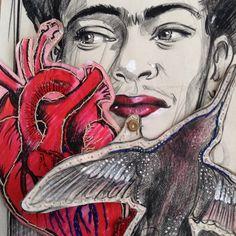 Art sale: 3 part Frida Kahlo interpretation. Special price until Tuesday.   Katarina Thorsen Art Blog