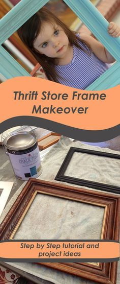Paint and distress old picture frames to add color to any room. Step by step tutorial and project ideas using Chalk-tique