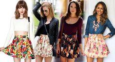 Цветочная юбка с чем носить и как правильно сочетать?