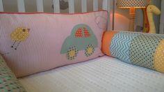Kit berço patchwork colorido menino  www.ateliecolorir.com.br