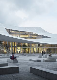 Gallery of Sou Fujimoto and Coldefy & Associés Propose a Sweeping Canopy for French Court House - 14