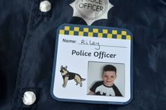 Police officer role play badge from Twinkl
