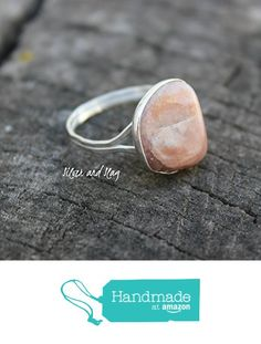 California Rose Quartz set in Sterling Silver Ring - size 8 from Silver and Slag http://www.amazon.com/dp/B01BE2XRHA/ref=hnd_sw_r_pi_dp_ux04wb1KPM9JH #handmadeatamazon