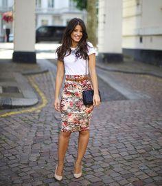 OUTFIT DEL DÍA: Look con falda floreada