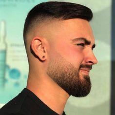 Trending haircuts for men in 2020 Faded Beard Styles, Beard Styles For Men, Hair And Beard Styles, Mens Hairstyles Fade, Haircuts For Men, Hairstyles Haircuts, Short Haircuts, Beard Haircut, Fade Haircut