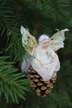 esty: Waldorf inspired ornament doll. Ivy the Winter Fairy Handmade Christmas fairy by Phoebecapelle, $65.00
