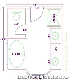 Bathroom and closet floor plans plans free 10x16 for Master bathroom floor plans 10x12