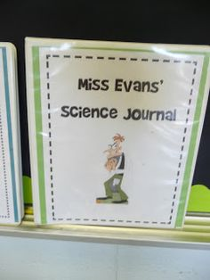 Science Journals are a great idea to have students further investigate different experiments and topics.