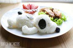 Snoopy en grain de riz qui fait la sieste