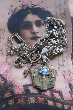 Your place to buy and sell all things handmade Celtic, Steampunk, Gothic, Catholic Medals, Star Jewelry, Gold Accessories, Marcasite, Star Shape, Our Lady