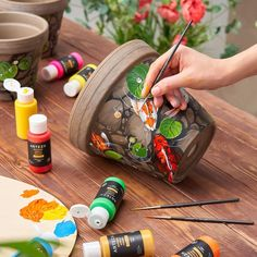 Outdoor Acrylic Paint, 59ml Bottles - Set of 20 | ARTEZA Outdoor Acrylic Paint, Acrylic Paint Set, Acrylic Colors, Outdoor Painting, Outdoor Art, Unique Colors, Vibrant Colors, Just Shop, Diy Arts And Crafts