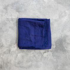 Linen Flat Sheet - Blaze Navy
