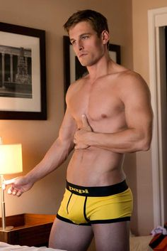 Brad Shaub heats up in orange, yellow and red underwear