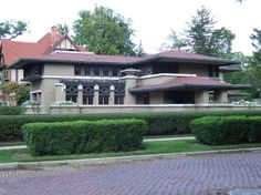 FLW's Meyer May House in Grand Rapids Michigan. Designed 1908, completed 1909.  Built for Meyer and Sophie May [May Department Stores].