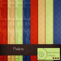 Madras  - Free Digital Papers from Paper Street Designs