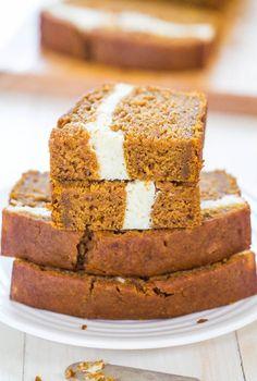 Cream Cheese-Filled Pumpkin BreadReally nice recipes. Every  Mein Blog: Alles rund um Genuss & Geschmack  Kochen Backen Braten Vorspeisen Mains & Desserts!
