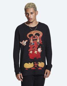 Facemelter Black Crewneck at Drop Dead Clothing - M - £55 #DDXMASWISHLIST