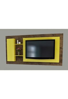 Flat Screen, Entertaining, Furniture, Home Decor, Products, Carton Box, Dashboards, Yellow, Luxury