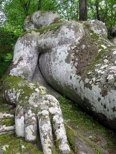 The sleeping Nymph of Bomarzo, Italy, Orsini's garden