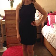 Little black dress Black dress from 344 with cute gold straps! Worn once. Dresses Mini