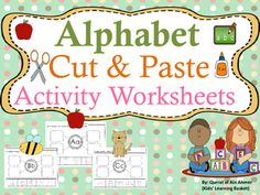 Alphabet Cut and Paste Activity Worksheets:26 Alphabet Cut and Paste Pages (Aa-Zz) - Students practice identifying beginning sounds while practicing their fine motor skills using scissors. They will cut and paste the pictures that begin with the sound.