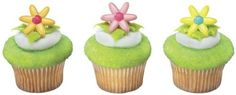 12 ct  Spring Flower Daisy Cupcake Rings -- More info could be found at the image url.