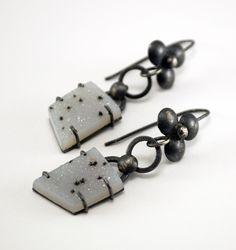 mariagotijoyas - Metal Naif Drusy Earrings