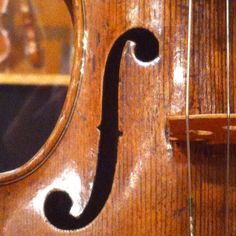 Bass side f hole, Andrea Amati violin c. 1574