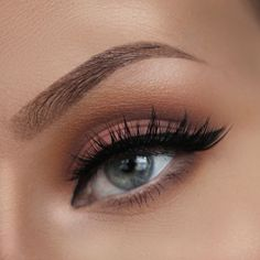 Lashes Love & Leather Matte & Warm Matte Eye Makeup featuring our Matte Eye Makeup, Dramatic Eye Makeup, Dramatic Eyes, Makeup For Green Eyes, Blue Eye Makeup, Hair Makeup, Wedding Day Makeup, Bridal Makeup, Iconic Lashes