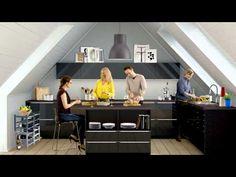 IKEA METOD in an attic kitchen