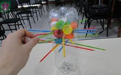 Dollar Store Crafter: Turn Empty Soda Pop Bottles And Their Caps Into A . Games For Kids, Diy For Kids, Activities For Kids, Crafts For Kids, Recycled Toys, Recycled Bottles, Pop Bottles, Plastic Bottles, Diy Games