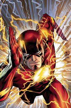 The remaining series from the New 52 launch are coming up on issue and DC Comics is celebrating with a set of variant covers homaging the issues from the launch. Here's Jesus Merino's tribute to Francis Manapul & Brian Buccellato's cover to Flash Share Heros Comics, Dc Comics Characters, Dc Heroes, Flash Characters, Flash Comics, Arte Dc Comics, Flash Art, The Flash, Dc Speedsters