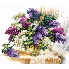 The Scent of Lillacs Cross Stitch Kit Counted Cross Stitch Kits, Cross Stitch Embroidery, Eagle Art, Diy Butterfly, Craft Online, Cross Crafts, 5d Diamond Painting, Diy Gifts, Floral Wreath