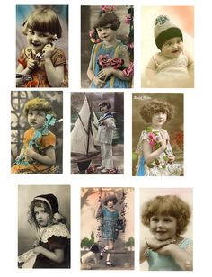 Vintage photos (colorized): Site also has lots of other Free-to-Use collage sheets.  http://www.flickr.com/photos/paperscraps/4284961000/in/set-72157623035244083/