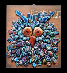 Painted rocks owl