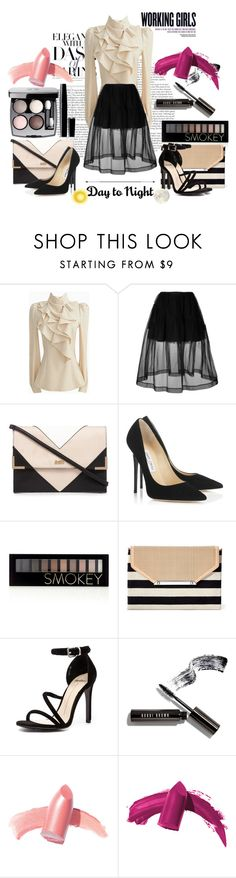 """Spring Day to Night"" by orietta-rose on Polyvore featuring Simone Rocha, Lipsy, Jimmy Choo, Forever 21, Stella & Dot, Mollini, Chanel, Bobbi Brown Cosmetics, Elizabeth Arden and daytoevening"