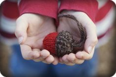 Knit Acorn Christmas Ornament Pattern- Rustic, Natural Holiday Decor - KNITTING PATTERN - As seen on Canadian Living. $1.99, via Etsy.