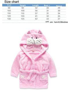 Toddlers Kids Hooded Robe Fannel Fleece Bathrobe Children's Pajamas Sleepwear Pink,6t(5-6 years)