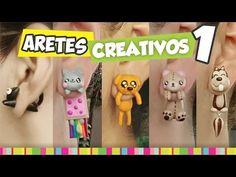FÁCIL✔ Aretes Creativos PARTE 1 - YouTube