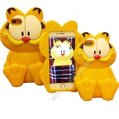 Carcasa divertida para Iphone 6 y 6S muñeco 3D Garfield