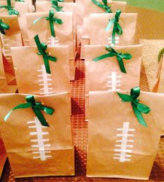 Football theme goody bags
