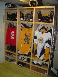 hockey equipment storage
