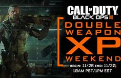 Call of Duty: Black Ops 3 Double Weapon XP Starts Tomorrow