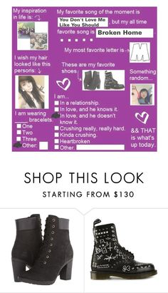 """R a n d o m"" by ajlee28 ❤ liked on Polyvore featuring Timberland and Dr. Martens"