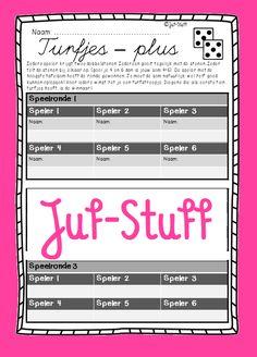 Juf-Stuff: Dobbelspel; turfjes - plus