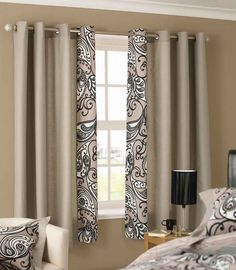 Beautiful Design Curtains For Short Windows : Curtain For Short Window  Elegant Brown