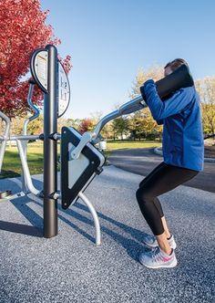 NEW! HealthBeat® Squat Press - Outdoor Fitness Equipment Squat/Leg Press