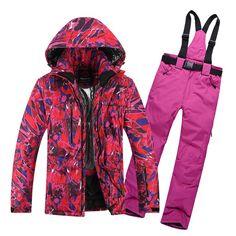 Unisex waterproof jacket snow ski suit set womens snowboard jackets  mountain ski suit thermal winter men skiing clothing set  Affiliate 942ae48db
